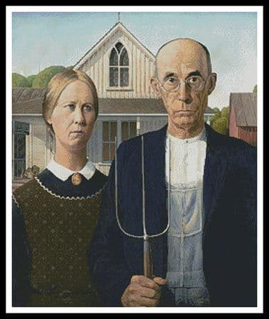 American Gothic by Artecy printed cross stitch chart